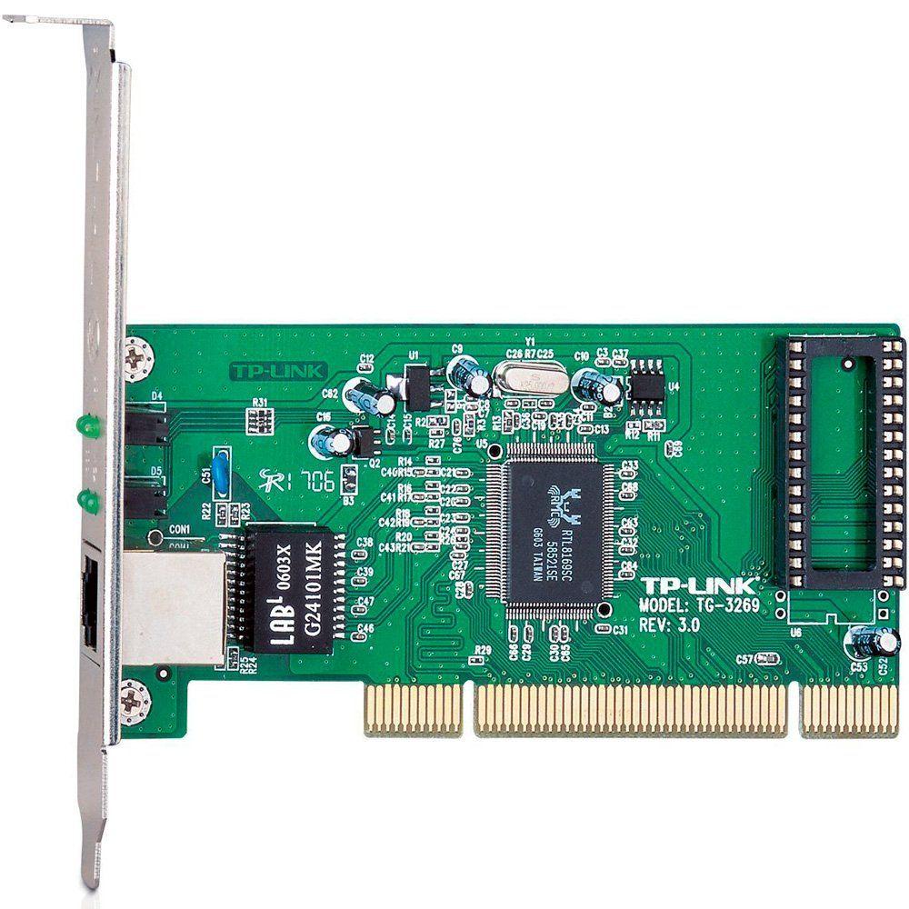 Placa de Rede PCI 10/100/1000 Mbps TP-Link TG-3269 - PC FLORIPA