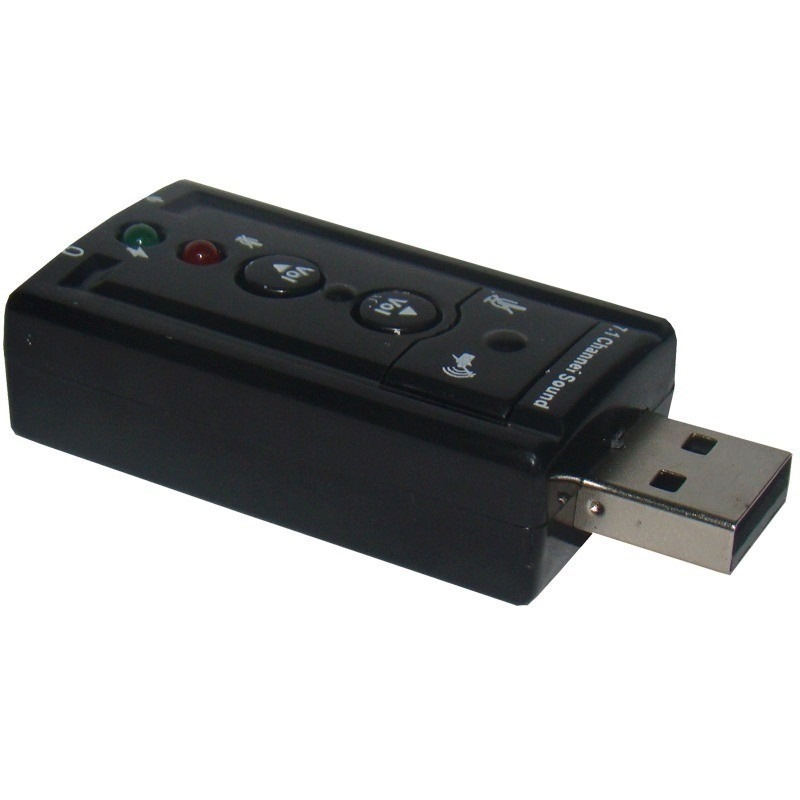 Placa de Som 7.1 USB Virtual Sound Feasso - PC FLORIPA