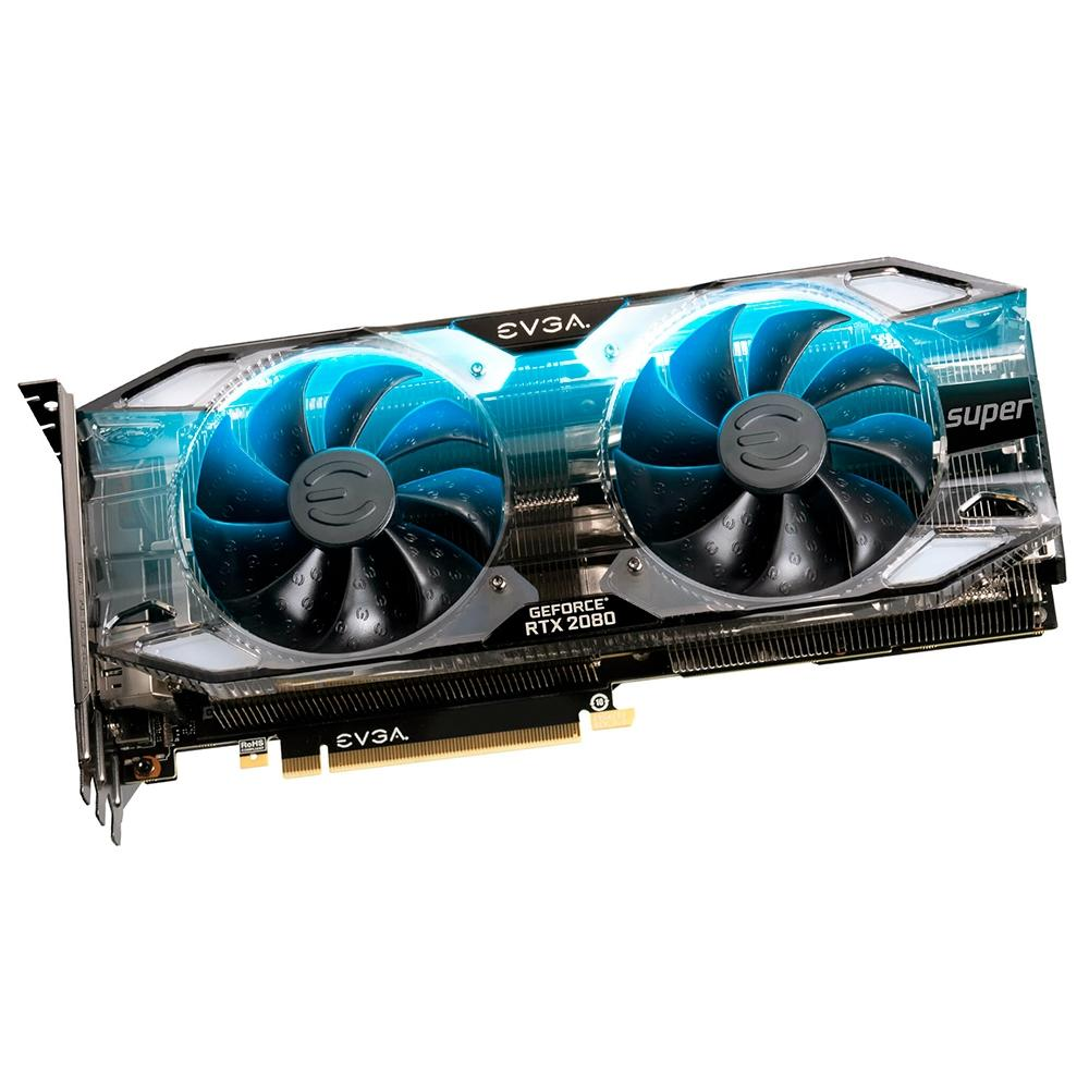 Placa de Vídeo 8GB PCI-E Nvidia RTX 2080 Super XC Ultra Overclocked 70C Gaming - 08G-P4-3183-KR - GDDR6 - EVGA - PC FLORIPA