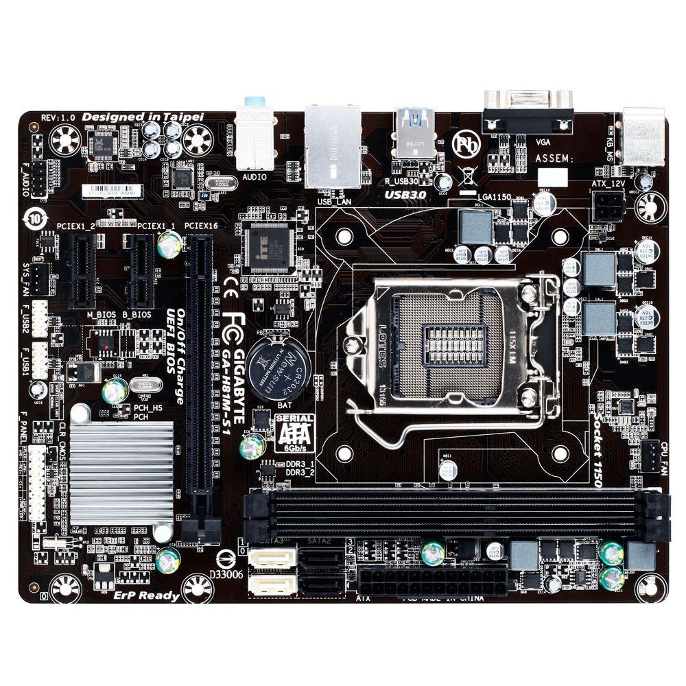 Placa Mãe 1150 Gigabyte GA-H81M-S1 - PC FLORIPA