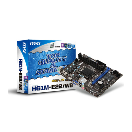 Placa Mãe 1155 MSI H61M-E22/W8 - PC FLORIPA