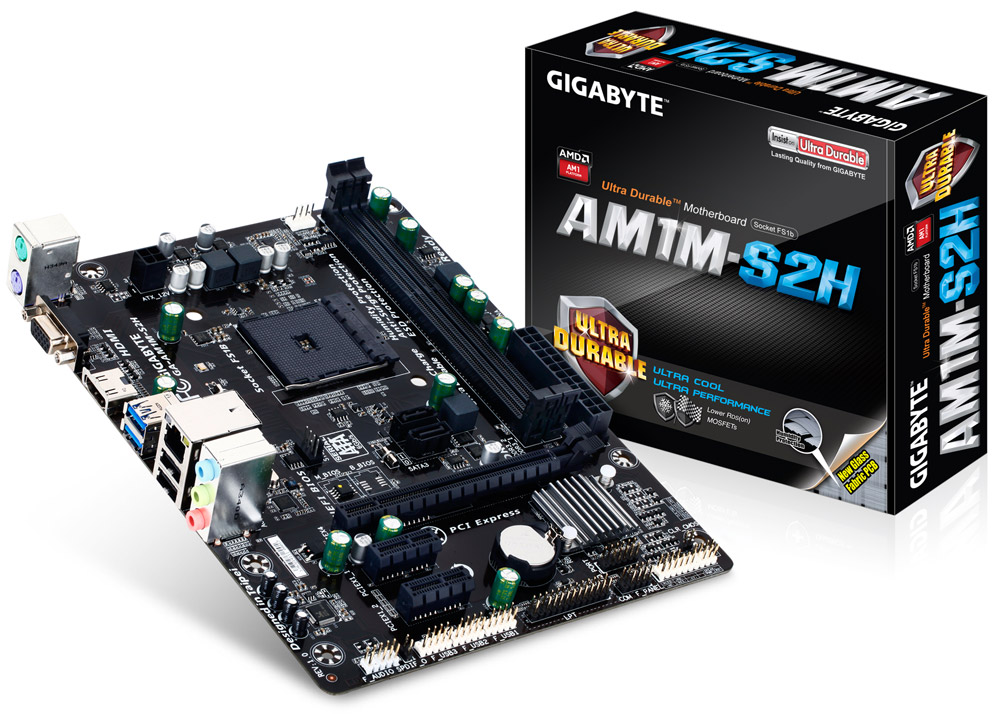 Placa Mãe AM1 Gigabyte GA-AM1M-S2H - PC FLORIPA