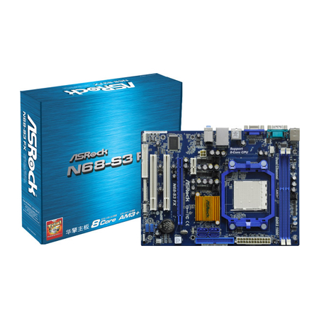 Placa Mãe AM3+ ASROCK N68-S3 FX - PC FLORIPA