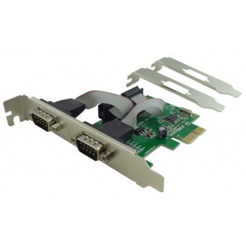 Placa PCI-E Serial 2 portas C/ Perfil Baixo Feasso - PC FLORIPA