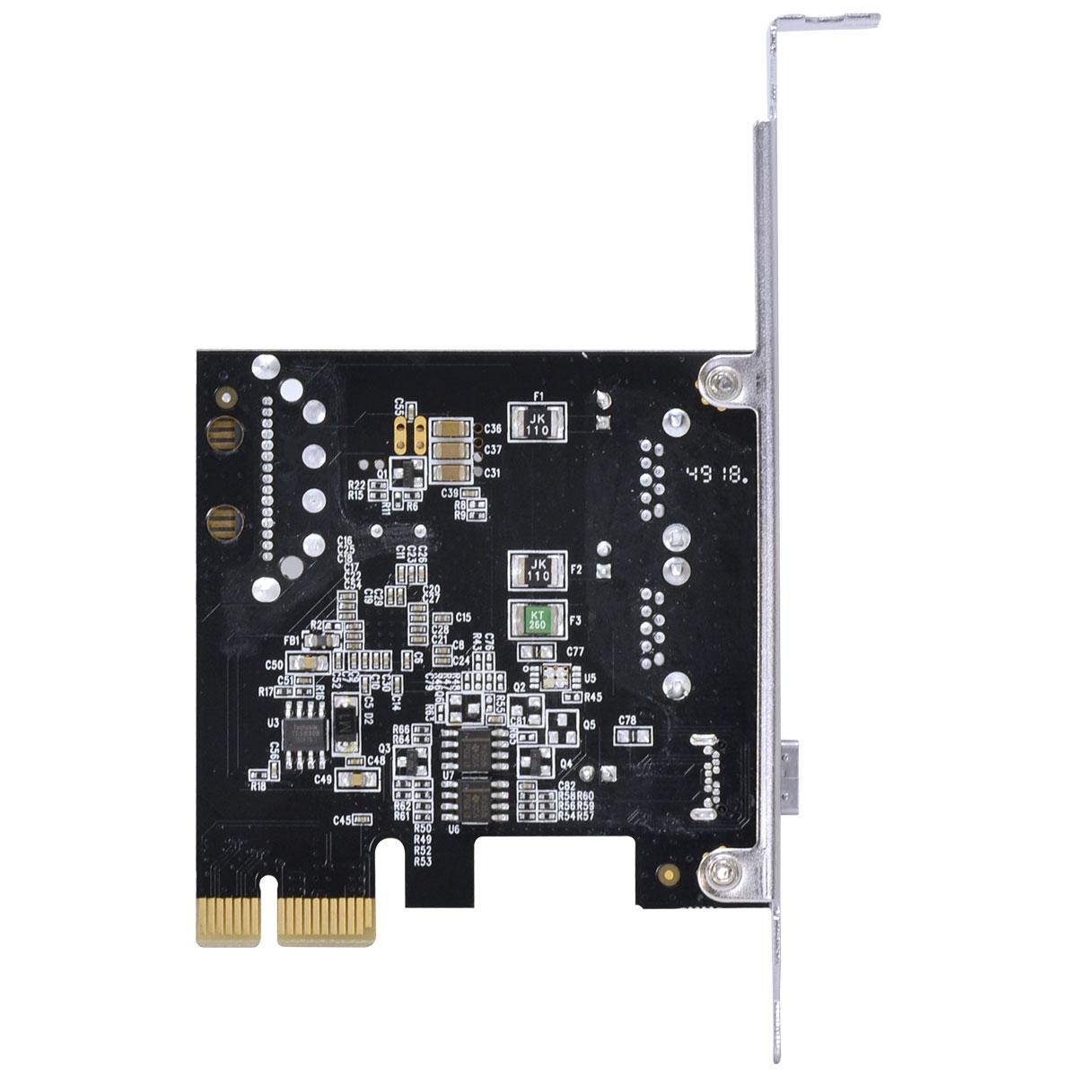 Placa USB com 2 USB 3.0 + USB C 3.1 PCI Express PCI-E X1 com low profile P2U30C31-LP - PC FLORIPA