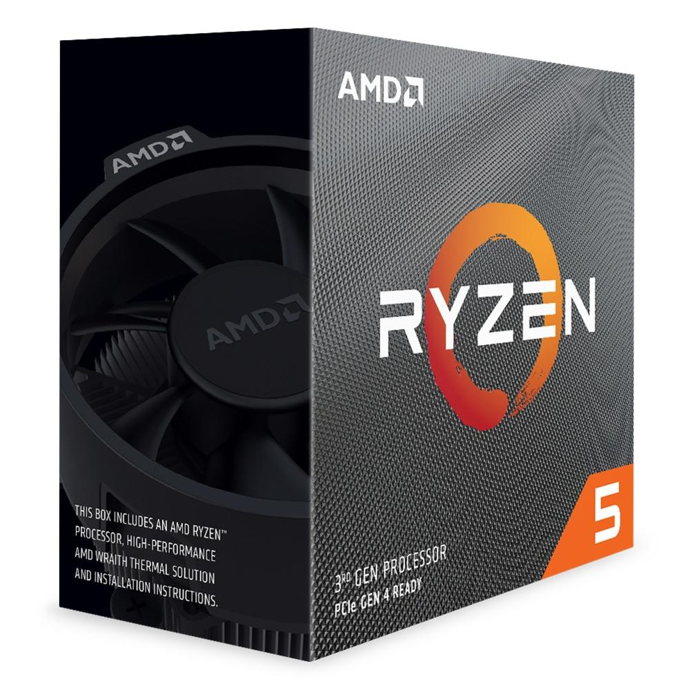 Processador AMD Ryzen 5 3600 Cache 32MB 3.6GHz(4.2GHz Max Turbo) AM4, Sem Vídeo - 100-100000031BOX - PC FLORIPA