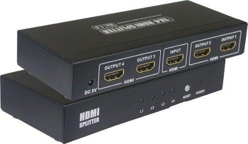 Splitter - Divisor HDMI 1x4 (1 Entrada x 4 Saidas)  V1.4 3D Feasso - PC FLORIPA
