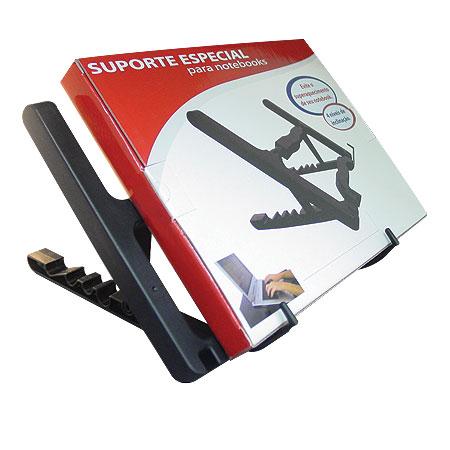 Suporte P/ Notebook C/ Elevação ST-34 Preto - OEM - PC FLORIPA