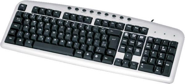 Teclado Coletek Multimidia USB Preto - KB2202-2 - PC FLORIPA