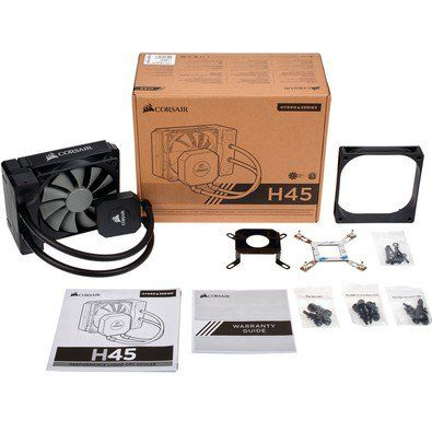 Water Cooler H45 Corsair - CW-9060028-WW - PC FLORIPA