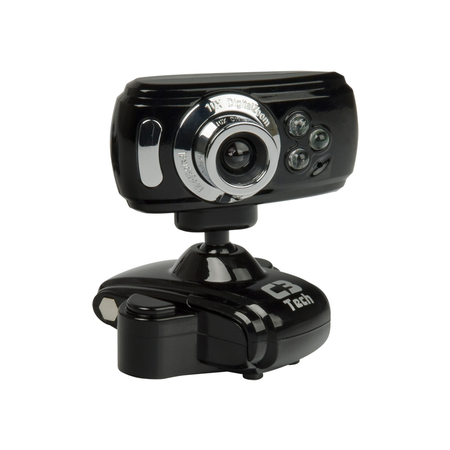 Webcam C3Tech 300K à 2.0 MP USB Preto/Prata - PC FLORIPA