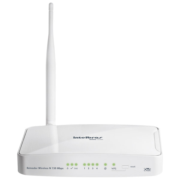 Roteador Wireless Intelbras WRN240i 150Mbps - 100mW - PC FLORIPA
