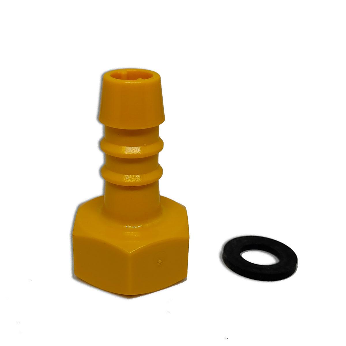 Conector Para Mangueira 1/2 Amarelo  Lubing