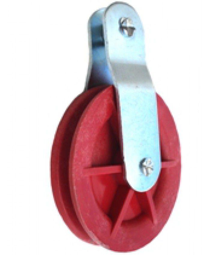 Roldana Nylon 90 x 19 mm com suporte