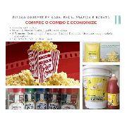 Kit Pipoca Gourmet C/ Sal Especial Óleo Manteiga E Temperos