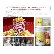 Pipoca Gourmet Kit Sal Especial Óleo Sabor Manteiga Temperos Milho Premium