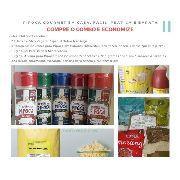 Kit Pipoca Gourmet Salgada Doce 10 Sabores + Oleo + Milho