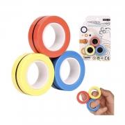Anel Magnetico Anti Stress Brinquedo Fidget Colorido