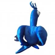 Arara Azul de Pelúcia Porta Presente  30 cm