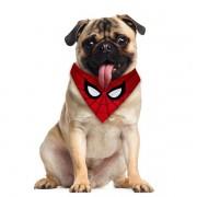 Bandana Pet Homem Aranha Gatos e Cachorros Dupla Face