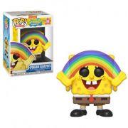 Boneco Funko Pop Bob Esponja Spongebob Arco Iris meme 558