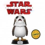 Boneco Funko Pop Star Wars Porg #198 Chase Edição Limitada