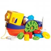Brinquedo com blocos de encaixe Barco Flutuante para bebê