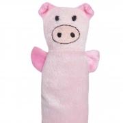Brinquedo com Guizo para Pets Pelúcia Porquinho Rosa