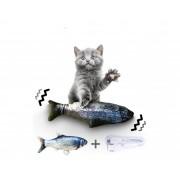 Brinquedo Interativo Gatos peixe elétrico que Balança USB
