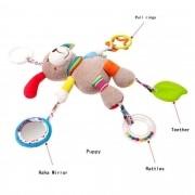 Brinquedo Mordedor para bebê de Pelucia Cachorrinho Mobile e Chocalho