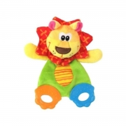 Brinquedo Mordedor para Bebe Leão com Barulhinho