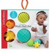 Brinquedo para bebê Bolas de silicone Infantino Texturizada