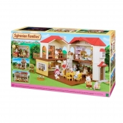 Brinquedo Sylvanian Families Casa Com Telhado Vermelho e Luzes