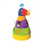 Brinquedo Tucano De Empilhar e Encaixe DIdático e Colorido