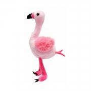 Chaveiro Flamingo de Pelúcia para mochila e bolsa 17 cm