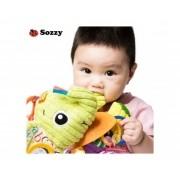 Chocalho Mordedor Elefante de Pelucia Bebê Sozzy
