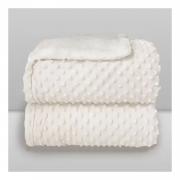 Cobertor Bebê Plush Com Sherpa Dots Branco Bolinhas