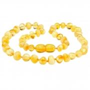 Colar de Âmbar Infantil Baroque Lemon 32 cm BupBaby