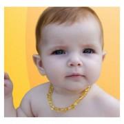 Colar de Âmbar para Bebês Infantil para Dentição Com Certificado