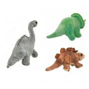 Combo com 3 Pelúcias Dinossauro Anti alérgicas, lindas e fofinhas