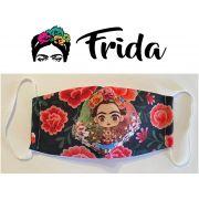 Mascaras de Tecido Lavavel Personalizada Dupla Camada de Proteção Frida Kahlo
