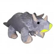 DInossauro Triceratops Cinza de Pelúcia 50 cm