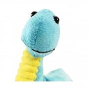 Dinossauro de Pelucia Bebe Braquiossauro Azul 21 cm
