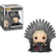 Funko Pop Game of Thrones Daenerys targaryen no Trono de Ferro #75