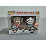 Funko pop Overwatch Hanzo e Genji Exclusivo 2 Pack E3 Edição Limitada