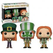 Funko Pop Pack com 3 Weasley - Ginny, Fred e George Coleção Harry Potter Exclusivo Eccc 2019