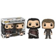 Funko Pop Pack Jon Snow E Brain Stark Game of Thrones BAM Exclusivo