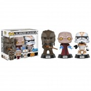 Funko Pop Star Wars Tarfful, Unhooded Emperor e Utapau Clone trooper