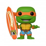 Funko Pop TMNT Michelangelo With Surfboard #1019 Summer Convention Limited Edition