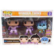 Funko Pop Wonder Twins - Dc Super Heroes - 3 Pack - Funko - Sdcc 2017